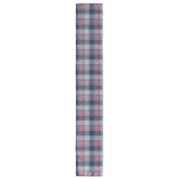 BLUE AND PINK KIDS PLAID Table Runner By Northern Whimsy