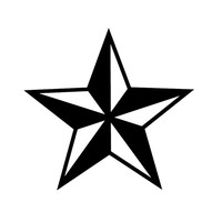 NAUTICAL Star - Car, Truck, Notebook, Vinyl Decal Sticke  Any Corlor