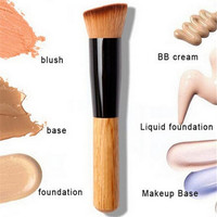 Makeup Brushes Powder Concealer Blush Liquid Foundation Make up Brush (Color: Brown)