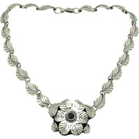 Mexican Sterling Flower Necklace