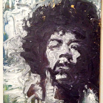 Modern Pop Art Painting 16x20 Jimi Hendrix Movie Rock Art Music Art Outkast Andre 3000 All Is By Your Side