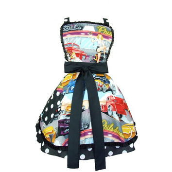 Hemet Retro Hot Rods and Waitresses 50s Diner Apron