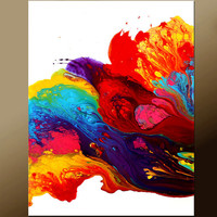 Abstract Art Canvas Painting 18x24 Contemporary Art Paintings by Destiny Womack - dWo - Pure Joy