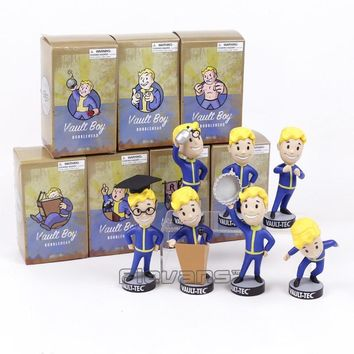 Fallout Vault Boy Bobble Head PVC Action Figure Collectible Model Toy Brinquedos 7 Styles