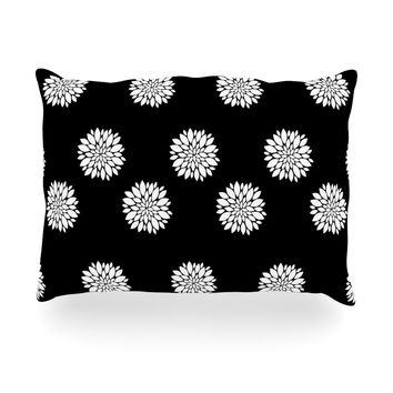 "Suzanne Carter ""Peony Rose"" Black White Oblong Pillow"