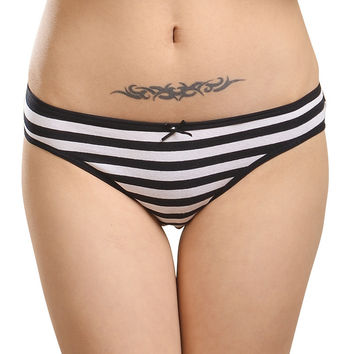 Lot 6 pcs Cotton Spandex Womens Briefs Underwear Seamless Lingerie Sexy Ladies Panties Female Striped Underpants M L XL