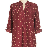 ModCloth Long 3 Hosting for the Weekend Tunic in Merlot