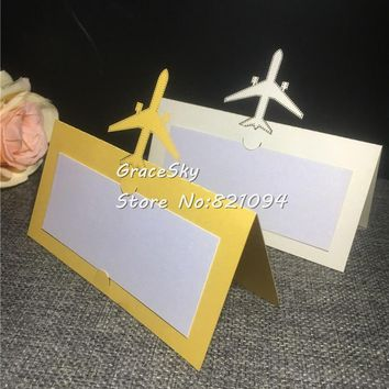 Airplane Name Place Seat Paper Wedding Invitation