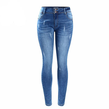 Chic  Faded  Stretch Skinny  Jeans