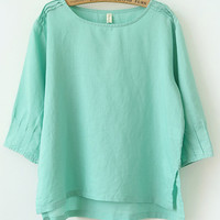 Long Sleeve and Long Back Casual T-Shirt