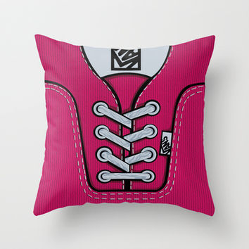 Pink Vans shoes Throw Pillow case by Three Second