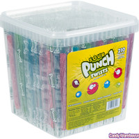 Sour Punch Twists - Wrapped: 210-Piece Tub