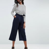 ASOS Tailored Culotte with Tie Waist at asos.com