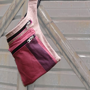 Hip Bag Three Colors Pink , Pink Belt Bag, Festival Pouch, Pink Fanny Pack, Travel Pouch,