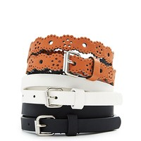 Flower Power Skinny Belt Trio