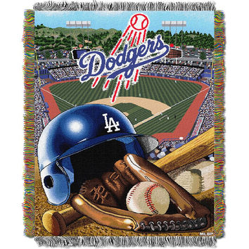 Los Angeles Dodgers MLB Woven Tapestry Throw (Home Field Advantage) (48x60)