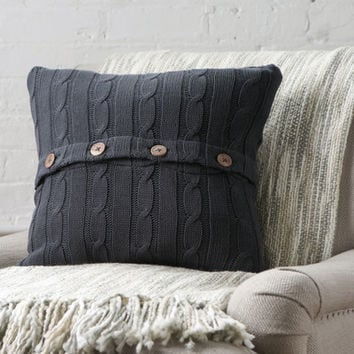 Birch Lane Clara Cable-Knit Pillow Cover
