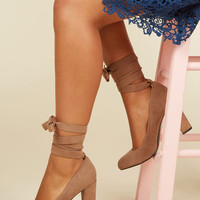 Charismatic Candidate Heel in Sand | Mod Retro Vintage Heels | ModCloth.com