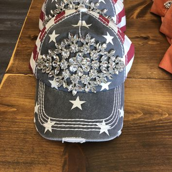 Bling Baseball Hat American