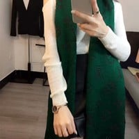 """Louis Vutitton"" Women Thickened Fashion Logo Letter Embroidery Tassel Cashmere Scarf Shawl"