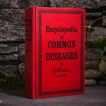 Hollow Book Safe - Vintage (1969) - Encyclopedia of Common Diseases - Magnetic Enclosure