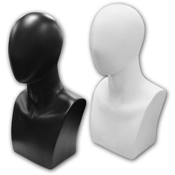 AF-122 Abstract Male Mannequin Head Bust Form