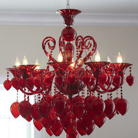 """Red Chianti"" Chandelier - Horchow"