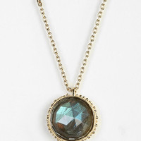 Elizabeth Knight Granulated Circle Labradorite Necklace - Urban Outfitters