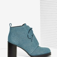 Cheap MondayLayer Laced Bootie - Denim