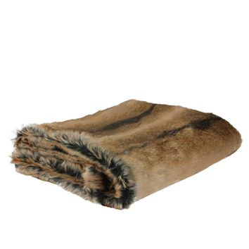 "Sophisticated Tawny Brown Faux Fur Super Soft Decorative Throw Blanket 50""x60"""