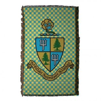 Tri Delta Coat of Arms Woven Throw Blanket