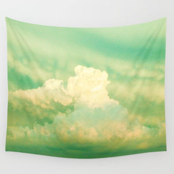 Puffy Storm Clouds Wall Tapestry