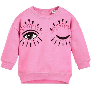 Kenzo Baby Girls 'Eye' Pink Sweatshirt (Mini-Me)