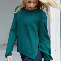 Honey Punch Easy Ribbed Pullover Sweater at PacSun.com