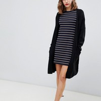 Stradivarius pocket midi length cardigan at asos.com
