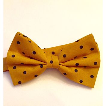 Gold with Black Bow Tie