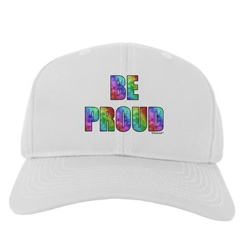 Be Proud Gay Pride - Rainbow Hearts Adult Baseball Cap Hat by TooLoud