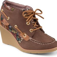 Sperry Top-Sider Hadley Wedge Bootie DarkBrown, Size 7.5M  Women's Shoes