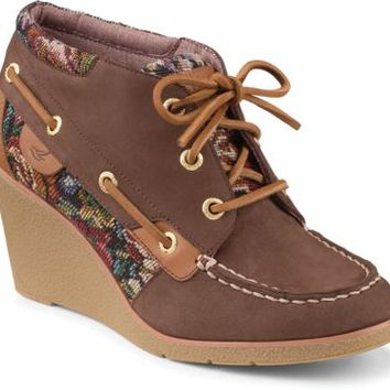 Sperry Top-Sider Hadley Wedge Bootie DarkBrown, Size 6M  Women's Shoes