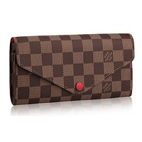 Louis Vuitton Damier Canvas Portafoglio Josephine Wallet Article:N63543