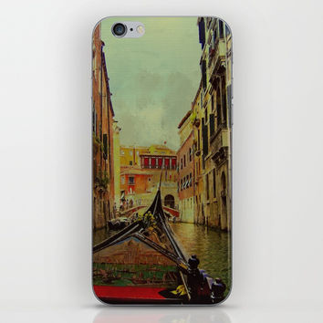 Venice, Italy Canal Gondola View iPhone & iPod Skin by Theresa Campbell D'August Art