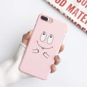 Cartoon Case For iphone 7 Case Lovely Baba Papa Back Cover Fashion Hard PC Frosted Phone Cases For iphone7 6 6S Plus 5 5S-0405