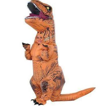 Rubie's Costume Child's Jurassic World T-Rex Inflatable Costume, Brown, OS