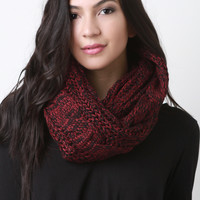 Loose Cable Knit Infinity Scarf