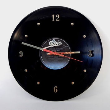"MICHAEL JACKSON Vinyl Record Wall Clock ""Off The Wall"" by RecordsAndStuff"