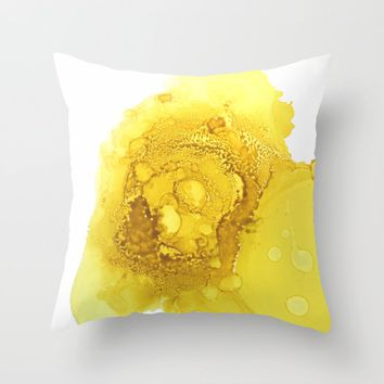 Manipura (solar plexus chakra) Throw Pillow by duckyb