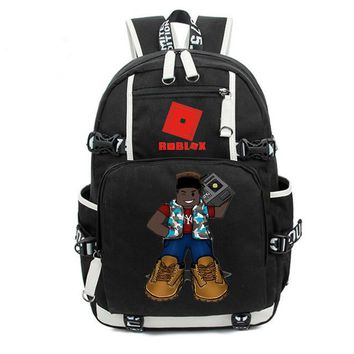 Student Backpack Children Roblox mochila students Backpack Deer Fedora Blox student school bag Notebook Badcc and Asimo backpack Leisure Daily bagpack AT_49_3