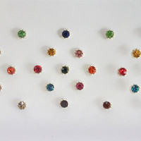 60 Sparkly Multicolor Rhinestones Bindis Sticker Pack/Bindis/Self Adhesive /Fake Nose Stud/Bindi Stickers/Stick On Studs/Decoration Studs