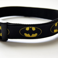 Batman Dog Collar Adjustable Sizes (M, L, XL)