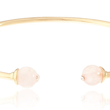 Goldtone Semi-Precious Ball Ended Arm Cuff (Rosaline)
